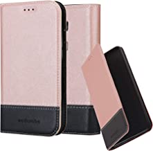 Cadorabo Book Case Works with Huawei G7 Plus / G8 / GX8 in Rose Gold Black – with Magnetic Closure, Stand Function and Card Slot – Wallet Etui Cover Pouch PU Leather Flip