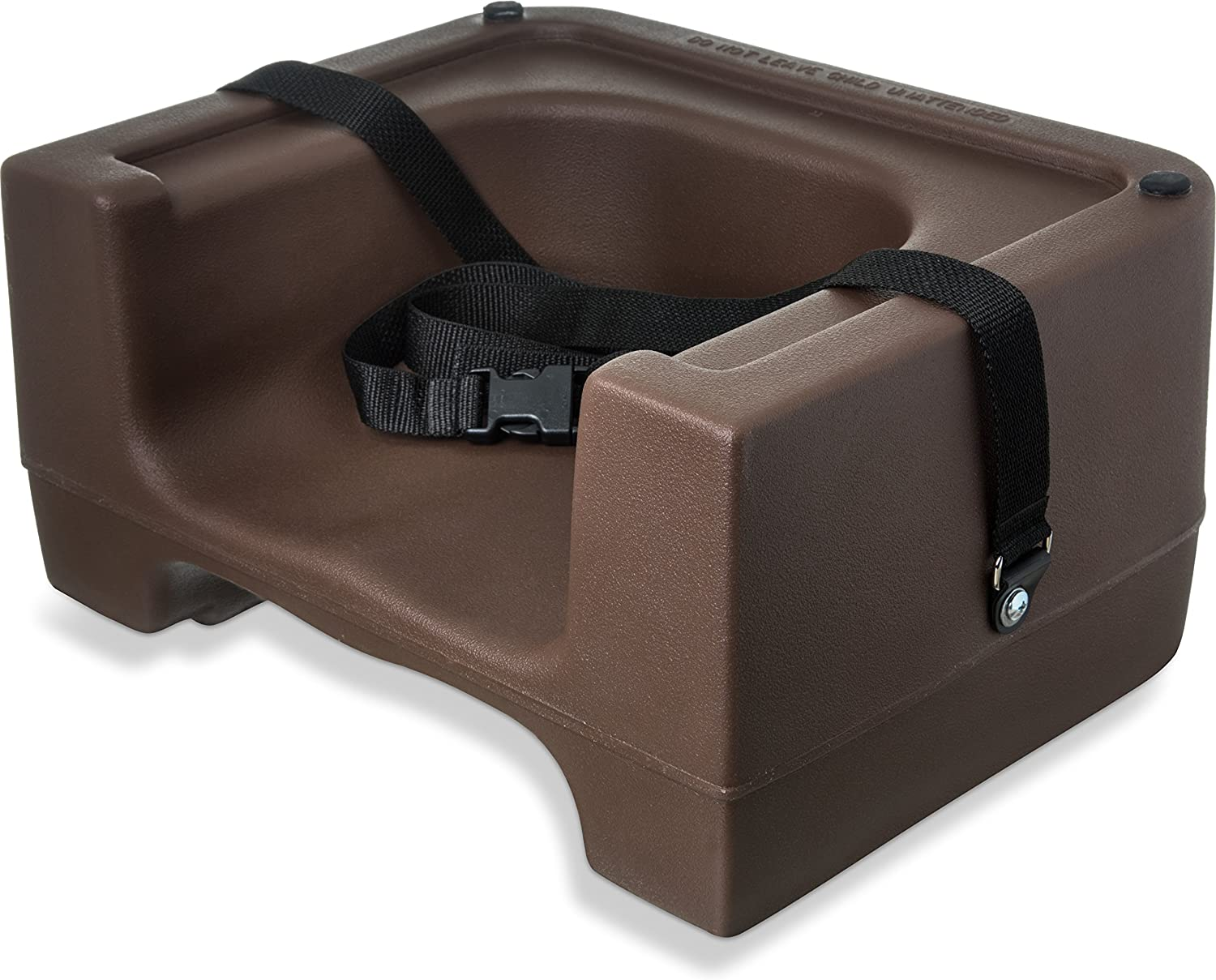 Carlisle 7111-401 Plastic Dual Seat Restaurant-Style Booster Chair with Safety Strap, Brown