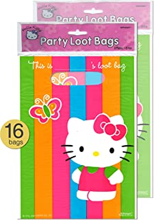 Set of 16 - Hello Kitty Theme Party Supplies Treat Loot Bags - Wholesale Bulk Pack