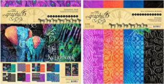 Graphic 45 - Kaleidoscope Collection Pack and Kaleidoscope Patterns & Solids Paper Pad - 12 x 12 Inch Decorative Papers - 2 Items