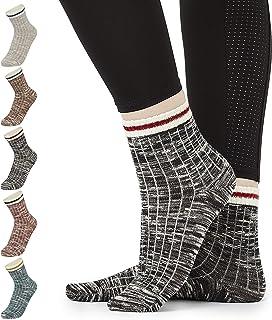 Calcetines Mujer, Pack de 7 Pares Calcetines Altos Unisex, Ropa de Mujer Algodon Suave, Calcetines Deporte Mujer, Regalos Originales Para Mujer Adolescentes Talla 37-40