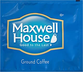 Maxwell House Medium Roast Ground Coffee Filter Packs (0.7 oz Packets, Pack of 100)