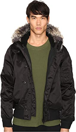 Faux Fur Trim Bomber