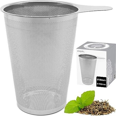 Verl/ängertem Kettenhaken Teefilter Edelstahl Teesieb f/ür Losen Tee Gew/ürzgew/ürze 8pcs) DBAILY Teefilter