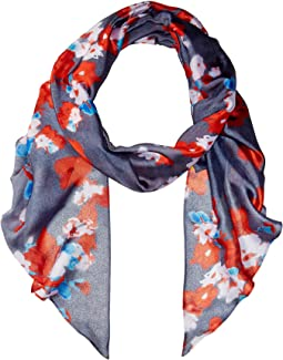 Textile Flower Painting Scarf