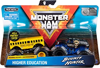 Monster Jam Official Higher Education vs. Bounty Hunter Die-Cast Monster Trucks, 2 Pack