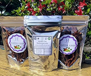 Smokin' Hot Mushroom Jerky - We Upped the Antioxidants, Added a Little Fire and Packed Them with Flavor! - (VEGAN/ Non- GMO/ SOY FREE) - 100% PLANTBASED - Naturally Gluten Free (Smokin' Hot)