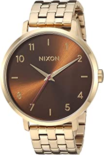 Nixon Women's Arrow Japanese-Quartz Watch with Stainless-Steel Strap, Gold, 17.5 (Model: A10902803)