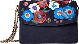 Tory Burch - Parker Embroidered Convertible Shoulder Bag