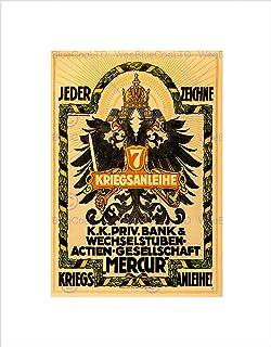 Wee Blue Coo War WWI Austria Hungary Loan Eagle Crest Arms Wall Art Print
