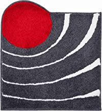Grund Designer Bath Mat COLANI, Ultra Soft and Absorbent, Anti Slip, 5 Years Warranty, Colani 2, Small Mat 60x60 cm, Anthr...