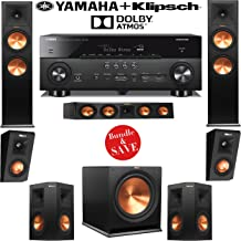 Klipsch RP-280F 5.1.2 Reference Premiere Dolby Atmos Home Theater System with Yamaha RX-A760BL 7.2-Ch A/V Receiver