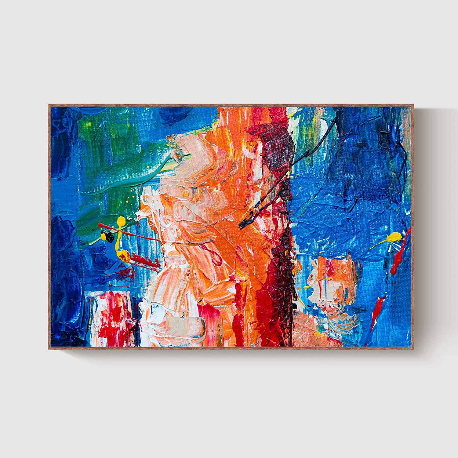 GENTLE DEER Modern latest Home Fresno Mall Framed Canvas Prints Color Oil Abstract