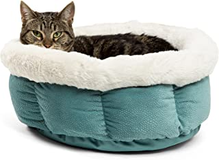 Best Friends by Sheri Cuddle Cup - Cozy, Comfortable Cat and Dog House Bed - High Walls for Improved Sleep (Multiple Sizes)