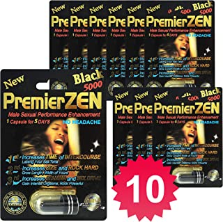 PremierZen Black 5000 10-Pills Male Enhancement Pill - Fast US Shipping