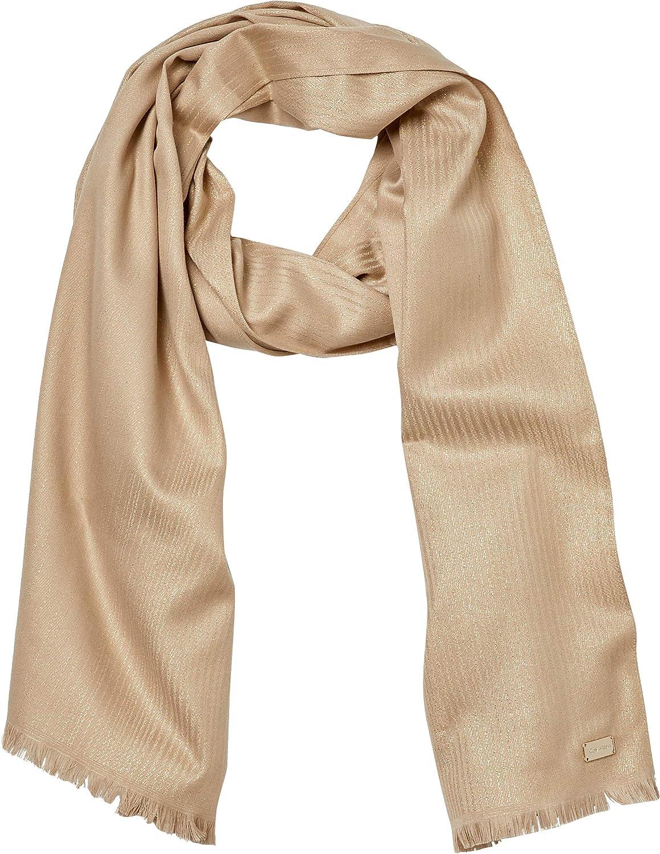 Calvin Klein womens Calvin Klein Ombre Lurex and Polyester Lightweight Wrap
