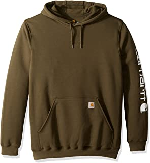 Men's Big & Tall Mw Signature Sleeve Logo Hooded Sweatshirt K288