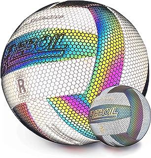 REBOIL バレーボール 5号球 反射性 カラフル 発光革 PU 標準重量 かっこいい動画を撮る トレーニングボール