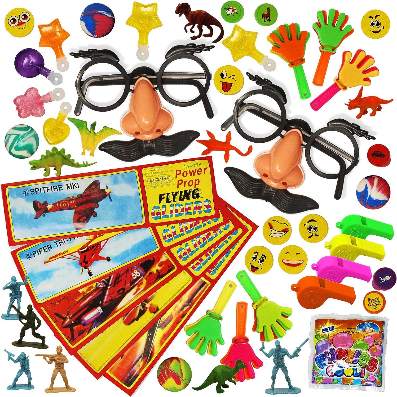 THE TWIDDLERS 100 Piezas Juguetes de Relleno de Piñatas de Cumpleaños para Niños - Premios Juego Halloween Bolsas Fiesta Regalo Infantiles