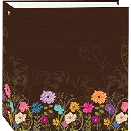 Pioneer Photo Albums TR-100D Chocolate Magnetic 3-Ring Photo Album 100 Page, Choc Garden