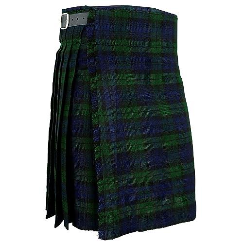 22b5215308 Hamilton Kilts Falda Escocesa Vestido Tierras Altas Tradicional Hombres  Kilt - Blackwatch