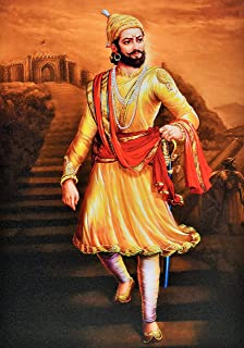 Shivaji Maharaj Texture Painting Print Photo Without Frame (20 X 28 Inches)