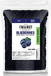 Dried Blueberries 2 lbs,Whole,Cultivated, Resealable Bag, Great for Salads, Mixes, Cooking and Baking.