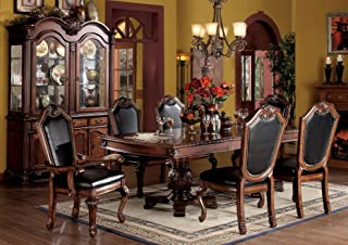 ACME Chateau de Ville 7-Piece Formal Dining Set, Table/4 Chairs/2 Arm Chairs, Cherry Oak Finish