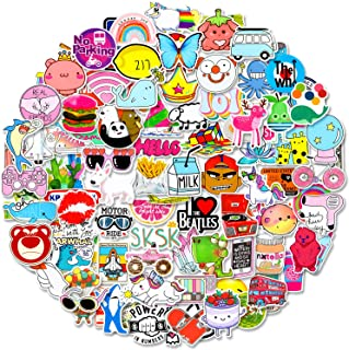 100 Pcs Colorful VSCO Sticker Packs, 100% Vinyl Cute Sticker Waterproof Laptop Decal for Teens & Adults, Hydro Flask Water...