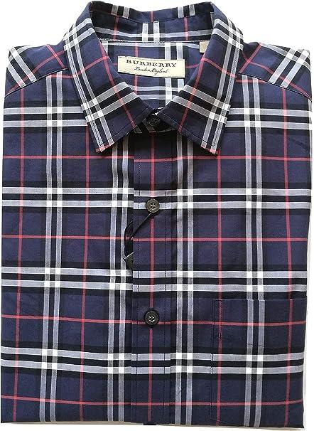 Burberry - Camisa de manga larga de algodón para hombre ...