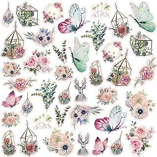 PAGOW 120pcs Morris Garden Washi Decals Stickers, Doraking DIY Decoration Pastel Stickers for Laptop, Room, Kids, Envelope...