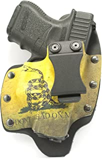 Infused Kydex USA Don't Tread On Me IWB Hybrid Concealed Carry Holsters for More Than 180 Different Handguns. Left & Right Versions Available.