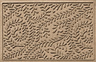Bungalow Flooring Waterhog Indoor/Outdoor Doormat, 2' x 3', Made in USA, Skid Resistant, Easy to Clean, Catches Water and Debris, Boxwood Collection, Khaki/Camel