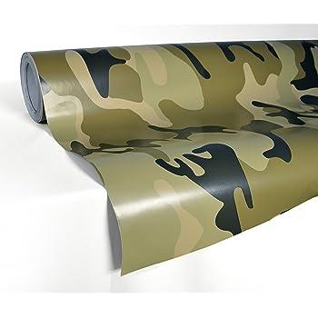 Green Camo 12 x 24 Rwraps Camouflage Vinyl Film Sheet Wrap Roll