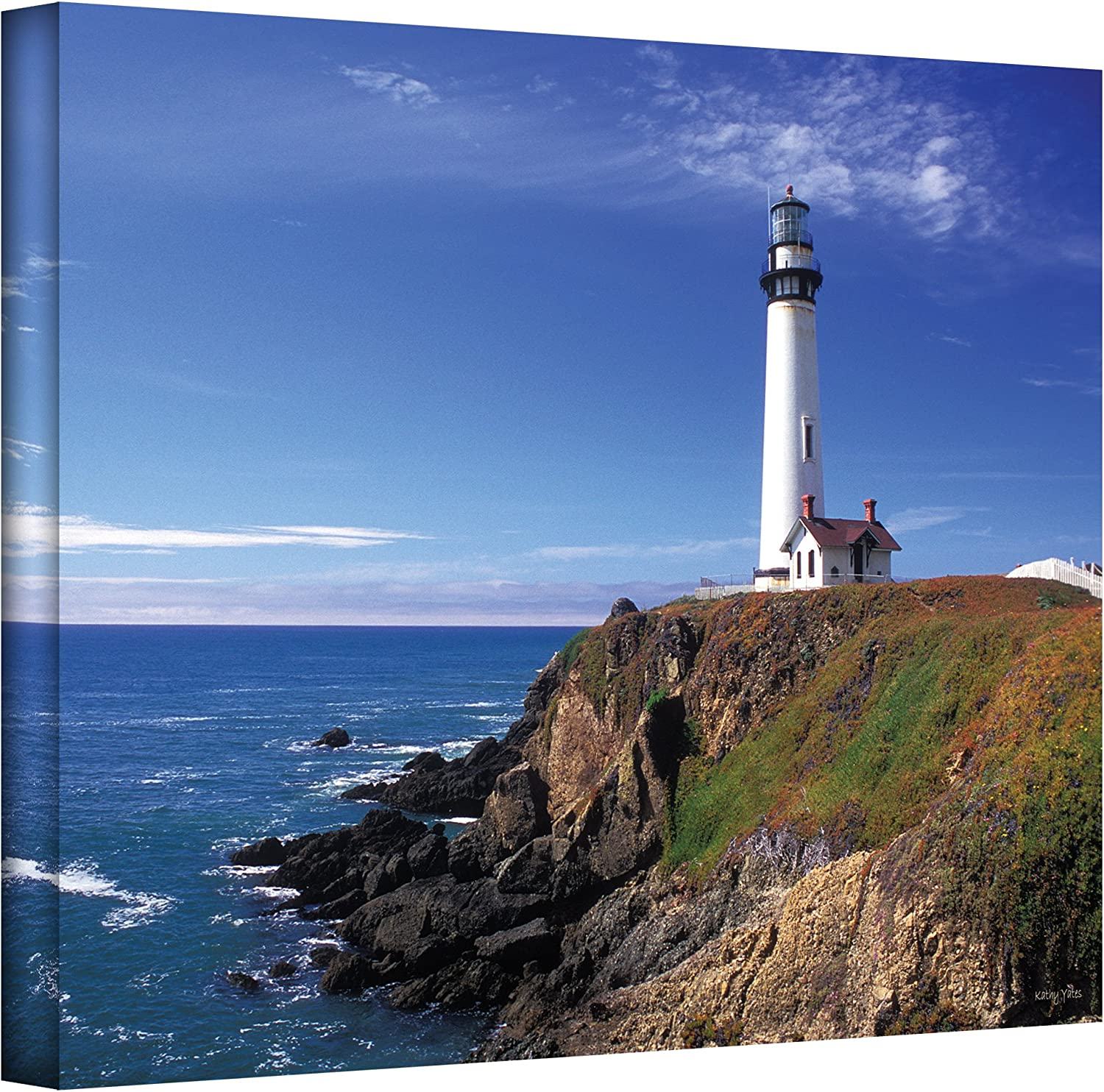 ArtWall Pigeon Point Direct stock discount Lighthouse Gallery Kathy Canvas by Max 53% OFF Wrapped