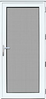 Titan 36x80 Meshtec Ultimate Security Storm Door | Aluminum Full View with Meshtec Advanced Screen & Glass| Recessed Mount | Right hand | 3pt lock system & high tensile-strength stainless steel screen