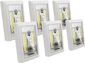 Glolux Ultra Bright Stick Anywhere Switch COB LED Light/Tap Light/Under Cabinet, Shelf, Shed, Kitchen, Garage, Attic, RV, Car Under The Hood. (6)