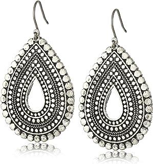 Lucky Brand Womens Blue Moon Tribal Tear Drop Earrings
