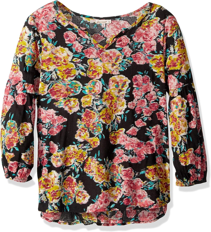Ella Moss Girls Big Top Floral Print
