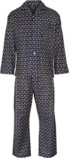 Champion Men's Diamond Pattern Brushed Cotton Long Pyjama Sleepwear Nightwear