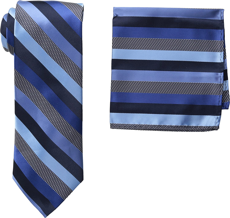 Stacy Adams Men's Microfiber Stripped Tie Set