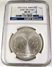 2011 S US Army Commemorative Early Releases $1 MS70 NGC
