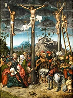 Cranach Elder Crucifixion Christ Biblical Painting Large Wall Art Poster Print Thick Paper 18X24 Inch