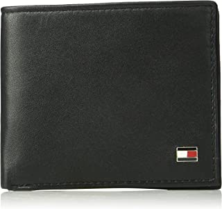 c11468667f4 Tommy Hilfiger Men's Leather Wallet - RFID Blocking Slim Thin Bifold with  Removable Card Holder and