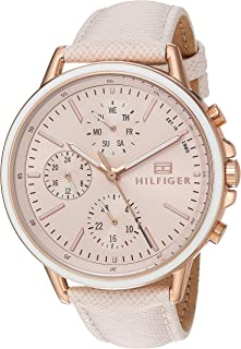 Tommy Hilfiger Womens Quartz Watch, Analog Display and Leather Strap 1781789