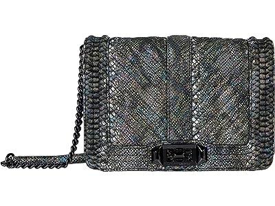 Rebecca Minkoff Chevron Quilted Small Love Crossbody (Multi) Cross Body Handbags