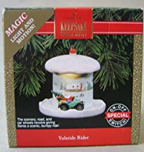Hallmark Keepsake Yuletide Rider Magic Light and Motion Christmas Tree Ornament - Handcrafted - Great for hanging on wreaths or christmas trees