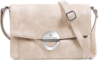 MODERN SHOWS Damen Kleine Umhängetasche Damen 5 hauptfächer Abendtasche Schultertasche Ultra Soft Washed Lederhandtasche R...