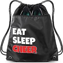 Eat Sleep Cheer Sack Drawstring Bag For Youth Girls Boys Kids 18