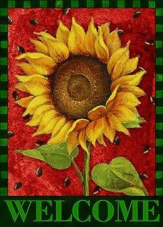 Covido Home Decorative Welcome Summer Garden Flag, Sunflower Watermelon House Yard Lawn Decor Vintage Flower Farmhouse Spr...